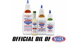 Lucas Oil official oil of the NHRA