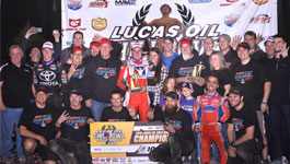 Christopher Bell and team in Victory Lane
