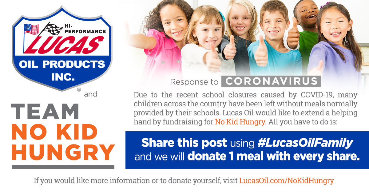 Lucas Oil No Kid Hungry