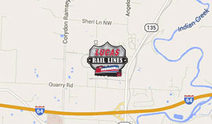 Lucas Oil Rail Lines Map